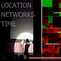 Screencapture of Matthias Shaprio at Ignite presenting on Data Visualization